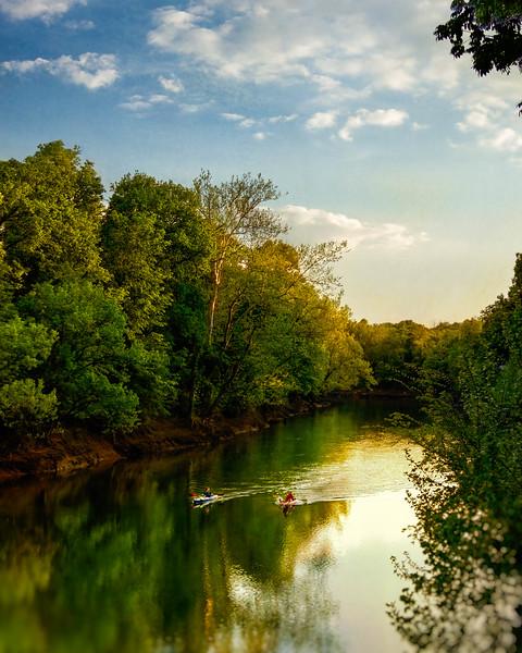 Kayaking on Stones River
