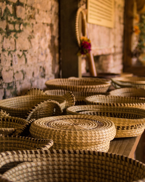 Sweetgrass Baskets on  Table