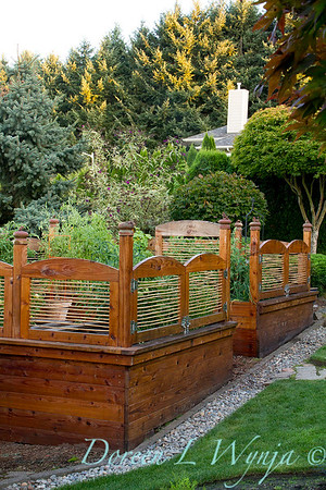 custom wood framed raised bed garden_0061