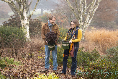 Justin & Megan with red and gold plant pick_1113