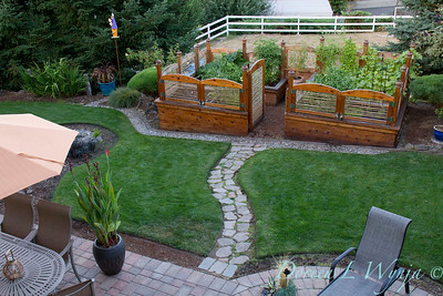 custom wood framed raised bed garden_0059