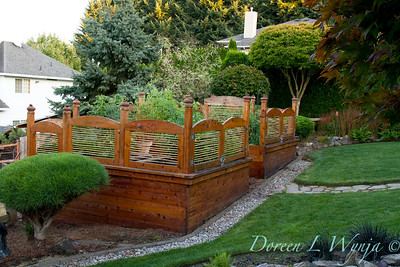 custom wood framed raised bed garden_0060