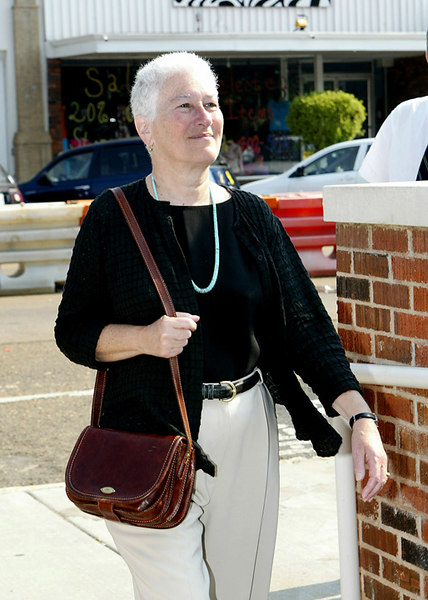 Rita Schwerner Bender, widow of Michael Schwerner,  arrives early to the sentencing of Edgar Ray Killen, Thursday, June 23, 2005 in Philadelphia, Miss. (AP Photo/Charles Smith)