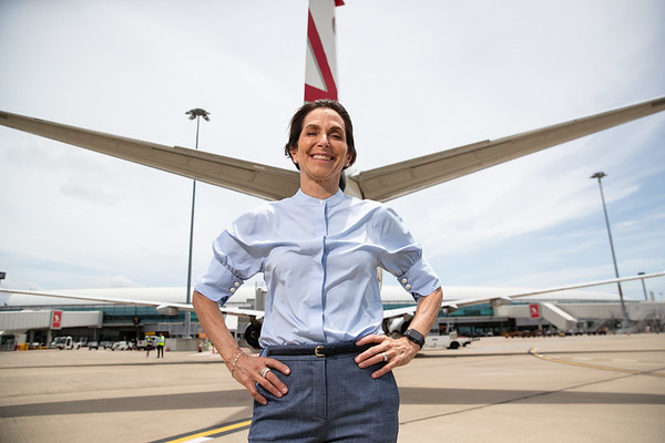 Jayne Hrdlicka CEO Virgin Australia. Brisbane, 18 Nov 2020. Photo: Attila Csaszar