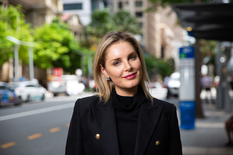 Holly Tattersall UQ MBA student. 04 Mar 2019, Brisbane. Photo: Attila Csaszar