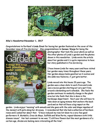 Mike Darcy endorsement of Fine Gardening cover shot