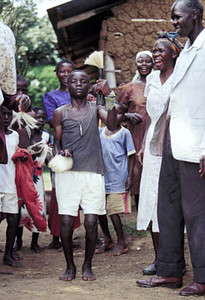 For weeks young Manuel and his cousin have been running to all of their relatives villages and dancing for hours to announce their upcoming ceremony of manhood.