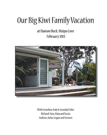 Kiwi Family Vacation 2013 Cover.indd