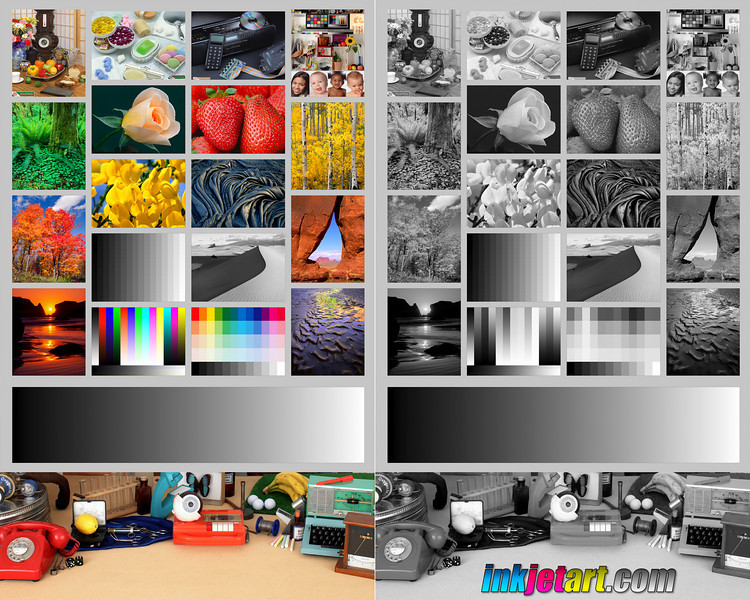Adjust your monitor's color, brightness, and contrast until this test image appears pleasing. Black, white, and all shades of gray should be visible, and colors should appear true.