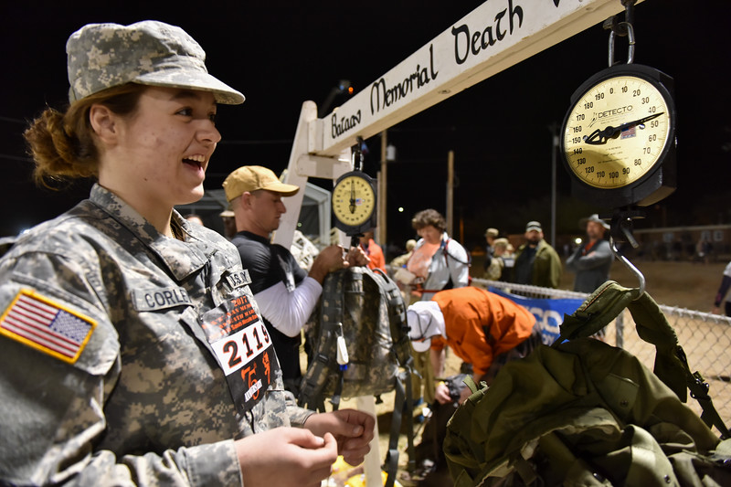 Soldiers and civilians can enter a heavy or light pack category. Heavy starts at 35lbs