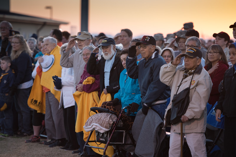 Five survivors of the Bataan Death March of WWII are honored at the opening ceremony