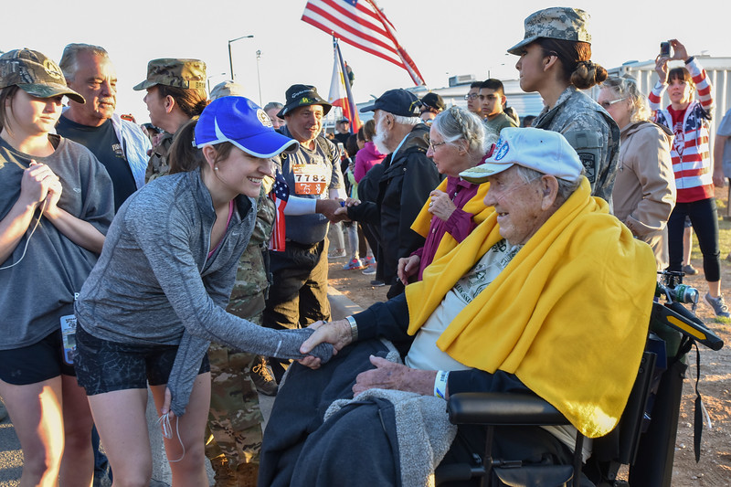 Honoring the survivors of the Bataan Death March, WWII at the Bataan Memorial March, White Sands Missile Range, NM