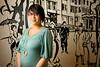 4/25/08 Newton, MA -- Designer Heather Delos Reyes a senior at Lasell College April 25, 2008.  Erik Jacobs for the Boston Globe