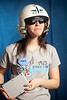 "4/7/11 Boston, MA -- Advance for Boston.com. Team – Eagle Trons<br /> High School – Mt. St. Joseph Academy<br /> From - Brighton, Mass.<br /> Pictured – Angela Nagelin, 17 with ""Eagle Eye"" a motion sensitive helmet mounted controller for the robotic camera.<br /> The 20th Boston Regional First Robotics Competition at the Agganis Arena April 7, 2011.  Erik Jacobs for the Boston Globe"