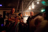 4/22/12 Somerville, MA -- Crowd members, Elaine Campbell of Arlington and Phil Mossgraber of Natick take in the Roy Sludge Trio at Radio in Somerville April 22, 2012.  Erik Jacobs for the Boston Globe