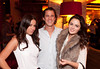 """10/23/11 Boston, MA -- From left, Danielle Carter of Boston, Tom Curtis of Back Bay and Sarah McConnell of the North End at Red Lantern in Boston to celebrate the launch of Style Network's new reality series, """"Wicked Fit,"""" October 23, 2011.  The cast & crew of the show gathered together with family and friends to watch  the series premiere, which documents series star & Taunton native Katie Boyd's success as a former Boston-area beauty-queen-turned-personal-pageant-trainer and owner of Katie Boyd's Miss Fit Club, located in Wellesley, Mass.  Erik Jacobs for the Boston Globe"""