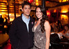 """10/23/11 Boston, MA -- Matt Marino and Michelle Spaleta (the 2008 Miss Massachusetts International titleholder) both of Arlington at Red Lantern in Boston to celebrate the launch of Style Network's new reality series, """"Wicked Fit,"""" October 23, 2011.  The cast & crew of the show gathered together with family and friends to watch  the series premiere, which documents series star & Taunton native Katie Boyd's success as a former Boston-area beauty-queen-turned-personal-pageant-trainer and owner of Katie Boyd's Miss Fit Club, located in Wellesley, Mass.  Erik Jacobs for the Boston Globe"""