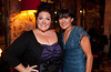 """10/23/11 Boston, MA -- From left, cast member Lorna Brunelle of Middleborough and her trainer Joan Corda of Wellesley at Red Lantern in Boston to celebrate the launch of Style Network's new reality series, """"Wicked Fit,"""" October 23, 2011.  On the show, Brunelle said she lost over 30 lbs. on the show and added """"I'm loosing everyday."""" The cast & crew of the show gathered together with family and friends to watch  the series premiere, which documents series star & Taunton native Katie Boyd's success as a former Boston-area beauty-queen-turned-personal-pageant-trainer and owner of Katie Boyd's Miss Fit Club, located in Wellesley, Mass.  Erik Jacobs for the Boston Globe"""