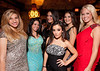 """10/23/11 Boston, MA -- From left, April Renzella of Stoughton, Krystal Muccioli of Nashua NH (the 2010 Miss NH titleholder), Katie Vatalaro of Boston (background), Nicole DiBlasi of Boston (foreground), Kristen Vatalaro of Easton and Kirsten Glavin of Grafton at Red Lantern in Boston to celebrate the launch of Style Network's new reality series, """"Wicked Fit,"""" October 23, 2011.  The cast & crew of the show gathered together with family and friends to watch  the series premiere, which documents series star & Taunton native Katie Boyd's success as a former Boston-area beauty-queen-turned-personal-pageant-trainer and owner of Katie Boyd's Miss Fit Club, located in Wellesley, Mass.  Erik Jacobs for the Boston Globe"""