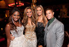 """10/23/11 Boston, MA -- From left, cast members Sola Okenla, Monique Jones, Monica Pietrzak and Markus Ricci at Red Lantern in Boston celebrate the launch of Style Network's new reality series, """"Wicked Fit,"""" October 23, 2011.  The cast & crew of the show gathered together with family and friends to watch  the series premiere, which documents series star & Taunton native Katie Boyd's success as a former Boston-area beauty-queen-turned-personal-pageant-trainer and owner of Katie Boyd's Miss Fit Club, located in Wellesley, Mass.  Erik Jacobs for the Boston Globe"""