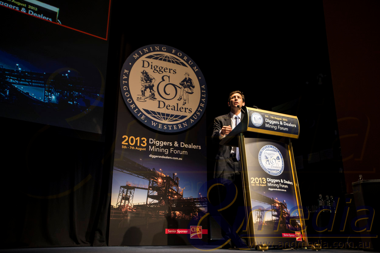 Diggers & Dealers Mining Forum 2013 - Day 1: 05/08/2013  Evolution Mining - Jake Klein, Executive Chairman.  Copyright ©Andmedia - No commercial or media use without permission. Please contact travis@andmedia.com.au to discuss image usage.  20130805_DIGGERS&DEALERS_40167