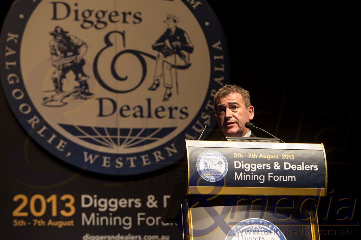 Diggers & Dealers Mining Forum 2013 - Day 1: 05/08/2013  Sirius Resources Limited - Mark Bennett, Managing Director & CEO.  Copyright ©Andmedia - No commercial or media use without permission. Please contact travis@andmedia.com.au to discuss image usage.  20130805_DIGGERS&DEALERS_40116