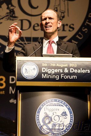 Diggers & Dealers Mining Forum 2013 - Day 1: 05/08/2013  Keynote Speaker, Austan Goolsbee during the opening session of the 2013 Diggers & Dealers mining forum in Kalgoorlie-Boulder.  Copyright ©Andmedia - No commercial or media use without permission. Please contact travis@andmedia.com.au to discuss image usage.  20130805_DIGGERS&DEALERS_10144