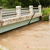 Riffle Ford Rd bridge.   The road is closed and the stream is expected to over run the bridge within hours.