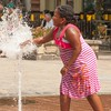 There is nothing like playing with the water at the Rockville CIty Center to cool off on a hot and humid day.