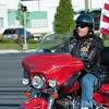 A Rolling Thunder particiant riding with the Gaithersburg staging contingent.