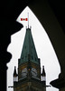 The flag on the Peace Tower on Parliament Hill in Ottawa flies at half staff on Monday Dec. 6, 1999, in memory of the victims of the Montreal Ecole Polytechnique massacre.(CP PHOTO/Fred Chartrand)