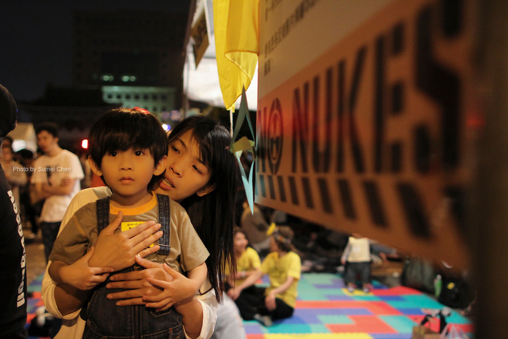 Anti-Nuclear demonstration on March 9, 2013 in Taipei, Taiwan (Photo by Sumei Chen).