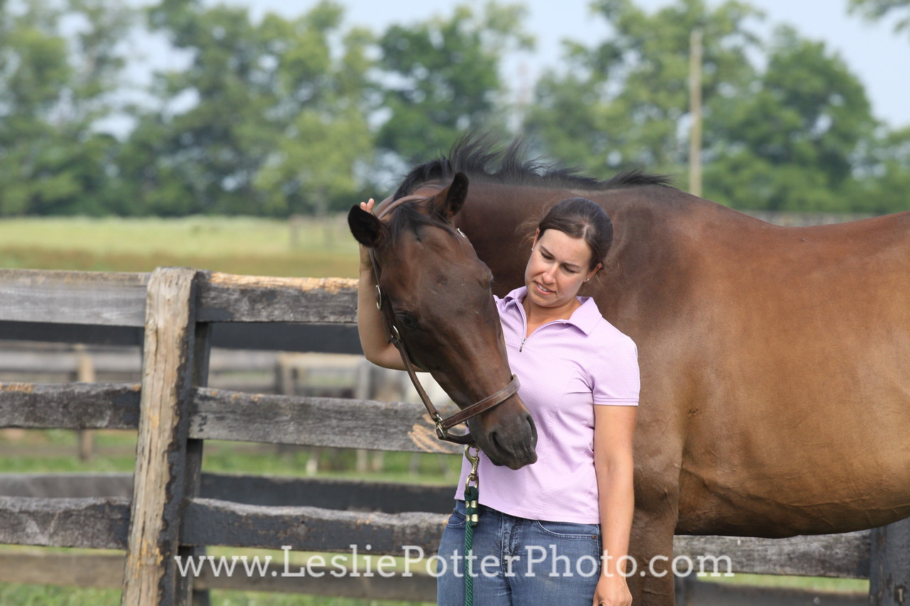 Bay Horse with Owner