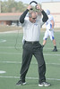 Friendswood head coach Steve van Meter reacts after an unfavourable call from the refree.