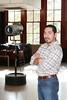 Development Director Armando Silva poses for a photo at the Theatre Space in MECA.
