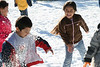 1st graders at Cloverfield Elementary enjoying some good old fashion snow fight.<br /> <br /> 15 tons of snow was brought to the school. It is part of a reward program that the school did for students who has accumulated more than 10000 points for reading this semester. That averages about 15 books. The school has checked out more than 8000 books from the library thus far.
