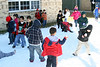 1st graders at Cloverfield Elementary enjoying some good old fashion snow fight.<br /> 15 tons of snow was brought to the school. It is part of a reward program that the school did for students who has accumulated more than 10000 points for reading this semester. That averages about 15 books. The school has checked out more than 8000 books from the library thus far.
