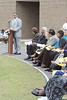 Jarvis Johson (Council Member District B) speaks at the Spark Park dedication ceremony at Holland Middle School.
