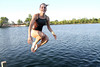 Debra Castell takes a dip at 288 Lake training facility. Photo by Pin Lim.