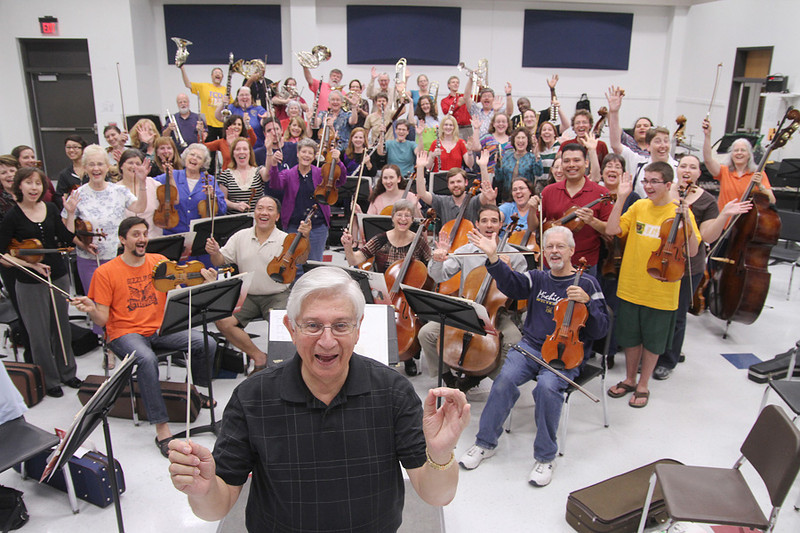 The Clear Lake Symphony rehearses for its Christmas Pops performance, to be held in early December. Photo by Pin Lim.
