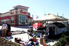 Tent City being set up at the new Chick-fil-A location at the Heights. Photo by Pin Lim.