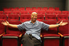 David Rainey, professor at UH-Downtown, poses for a photo at The O'Kane Theatre. Photo by Pin Lim.