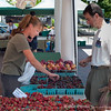 Vendors come from all over to the Farmers Market at the Kenlands.   Fresh fruit and vegetables abound.