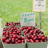 Fresh cherries at the Kentlands Farmers Markets held on Saturdays.