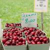 Fresh cherries at the Kentlands Farmers Markets held on Saturdays.
