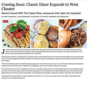 | Coming Soon: Classic Diner Expands to West Chester