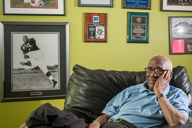 Sherman Howard, former NFL player. He's now at odds with the football culture. Photo by Megan Bearder NYTimes