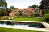 8/7/08 Newport, RI -- A view of the front of 145 Harrison Avenue in New Port, RI looking accross the Mario Nievera designed pool. August 7, 2008.  Erik Jacobs for the New York Times <br /> 30066306A