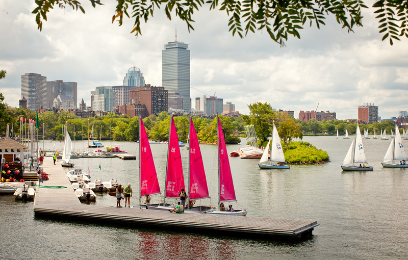 8/20/15 Boston, Mass. -- A view of the Boston city skyline with the Charles River in the foreground August 20, 2015. Erik Jacobs for the New York Times