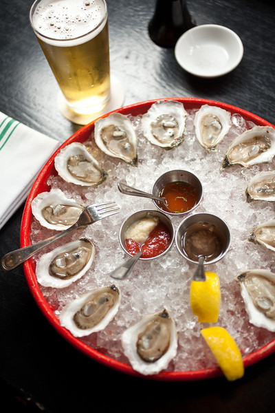 8/25/15 Boston, Mass. -- A plate of local oysters at Row 34 in Boston, Mass. August 24, 2015. Erik Jacobs for the New York Times